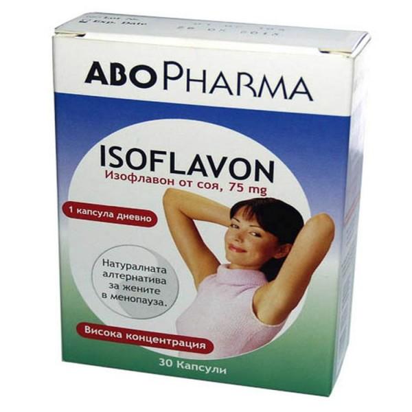 Abo Pharma Soy Isoflavones 75mg 30 Capsules