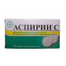 Aspirin C 400mg/240mg 10 Effervescent Tablets Bayer