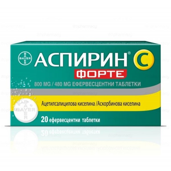 Aspirin C Forte 800/480mg 20 tablets
