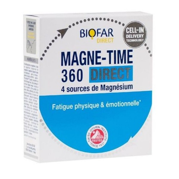 Biofar Magne Time 360mg Direct 14 Sachets For Physical And Emotional Fatigue