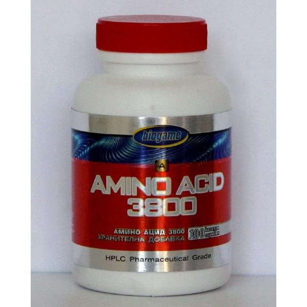 Biogame Amino Acid 3800 100 Capsules
