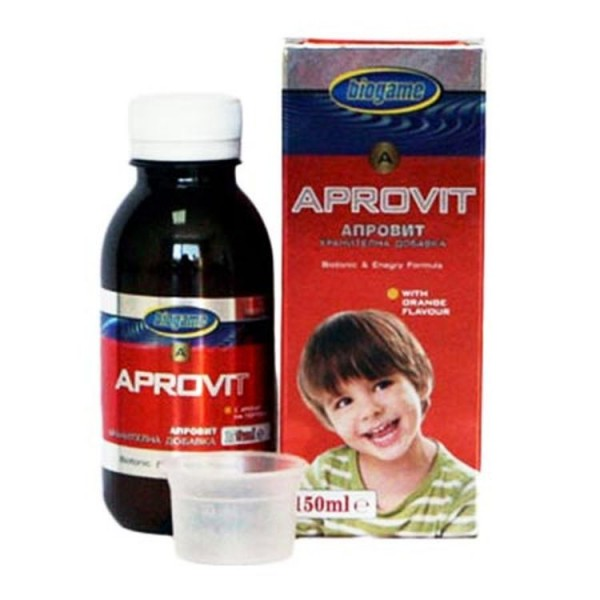 Biogame Aprovit Orange Flavour Syrup 150ml