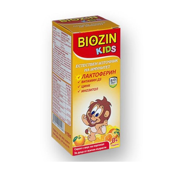 Biozin Kids Syrup With Lactoferrin 100ml