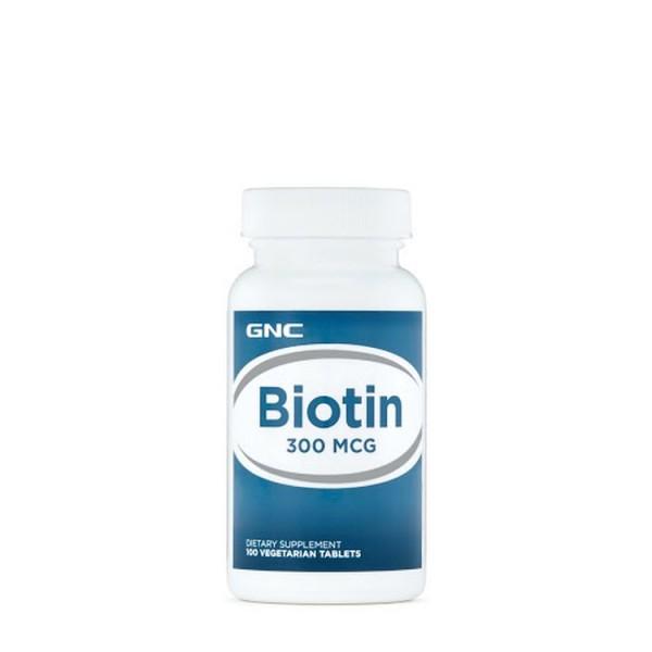 Biotin 300mcg 100 Tablets GNC