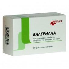 Valeriana 30mg  x 100 tablets