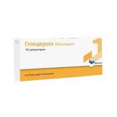 Glycerin Montavit 1g 10 Suppositories