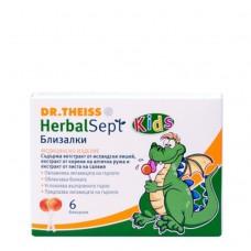 Herbal Sept Lollipops Sore Throat 6 pieces