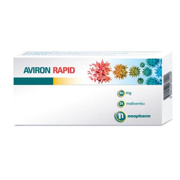 Aviron Rapid Against Viruses 360mg 24 Tablets