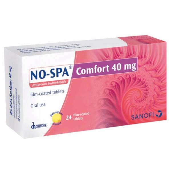 No-Spa Comfort 40mg 24 Tablets